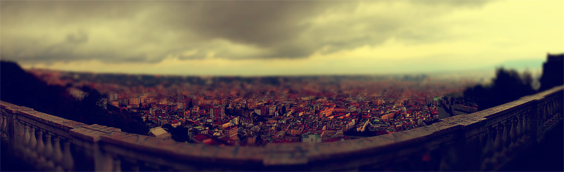 Italy, Neaples, Tilt-Shift-Effect