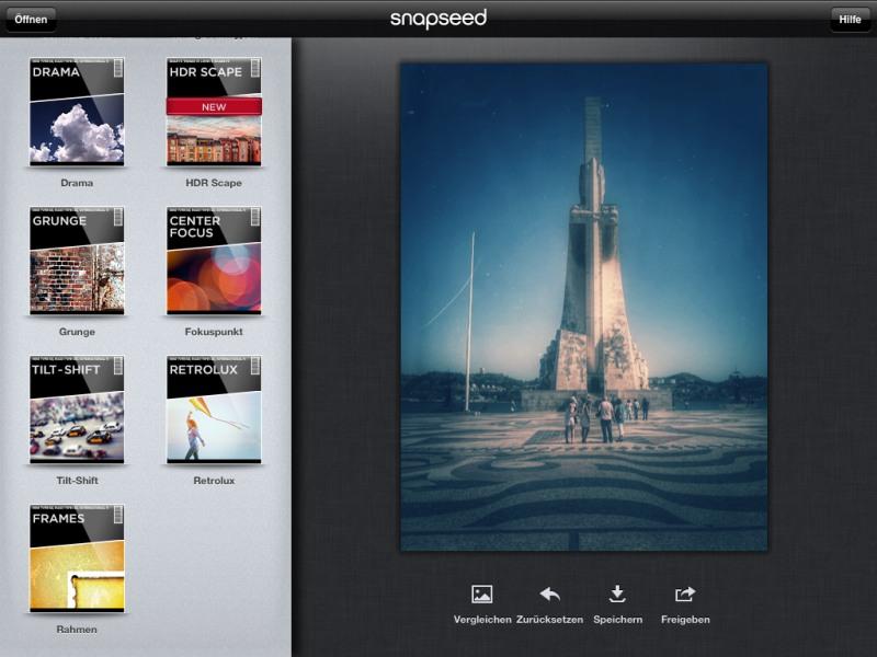 Die besten iPad-Apps - Snapseed