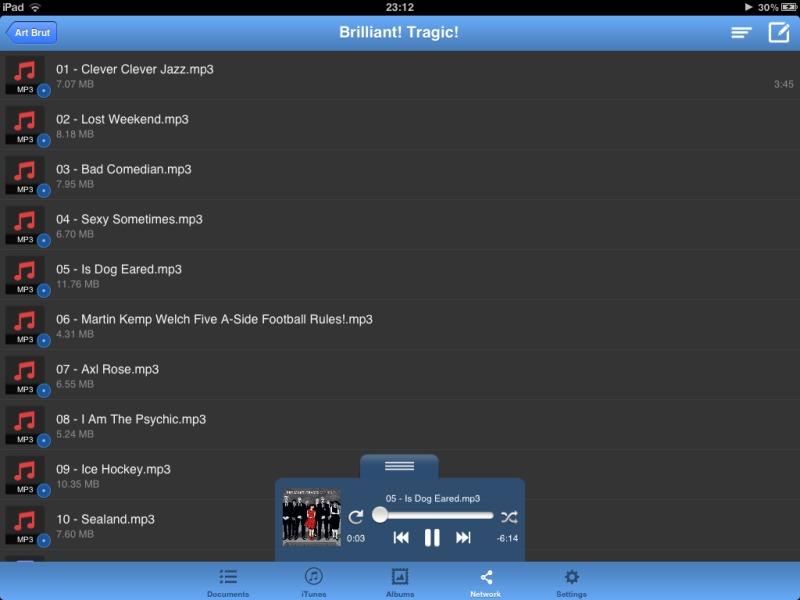 nPlayer unterstützt auch exotische Audioformate wie FLAC oder MPC per NAS