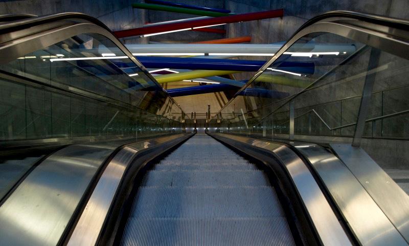Spiegelbilder des City-Tunnel Leipzig