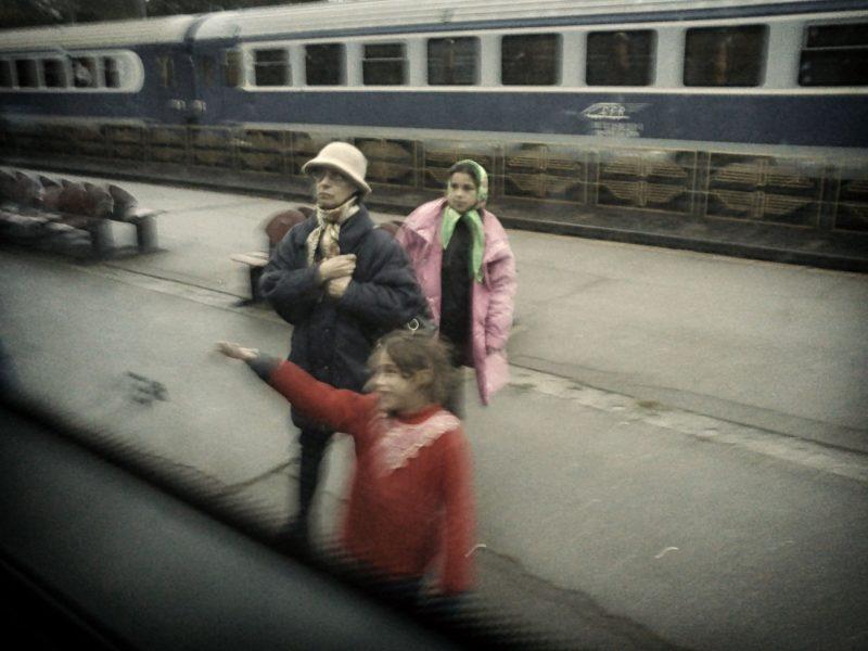 Train ride, Romania, Europe