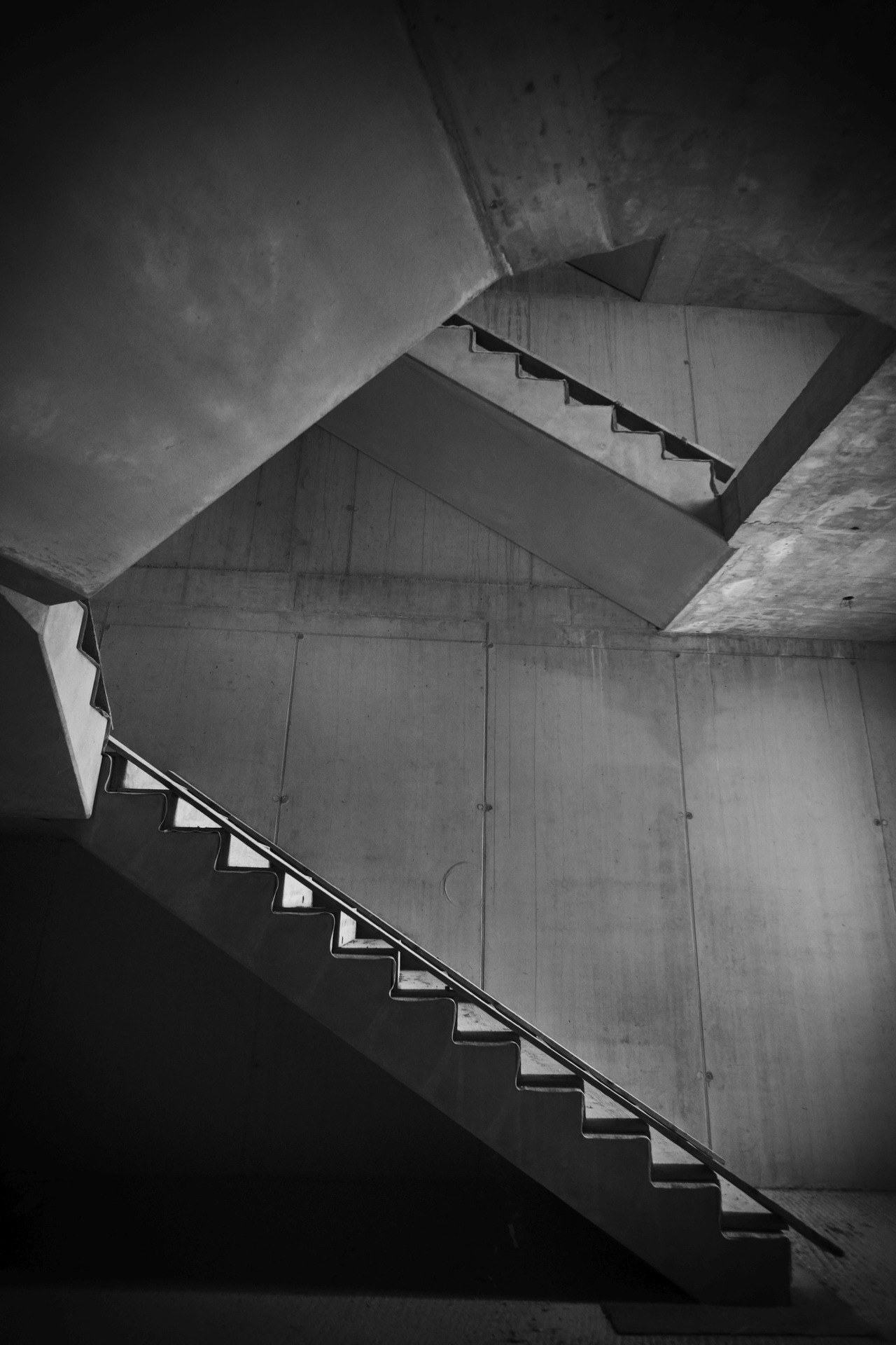 A grey stairway