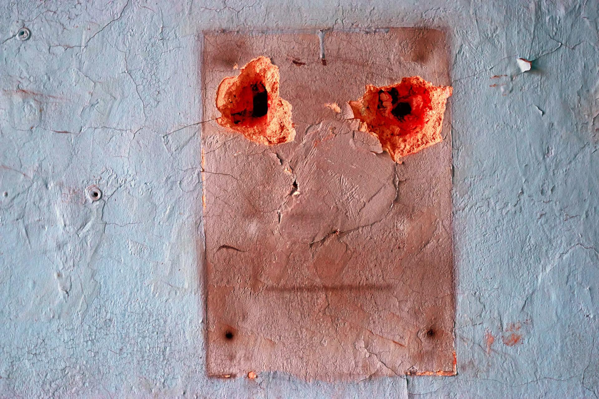 Wandgesicht auf einer Baustelle