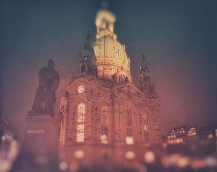 Dresden Frauenkirche bei Nacht