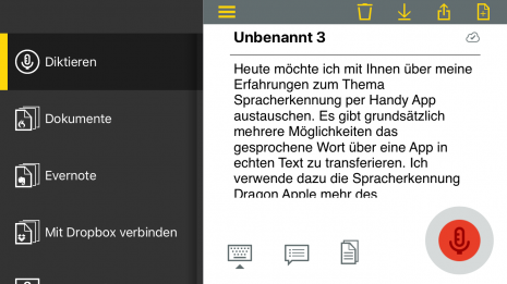 Test: Spracherkennung mit Dragon Anywhere unter iOS