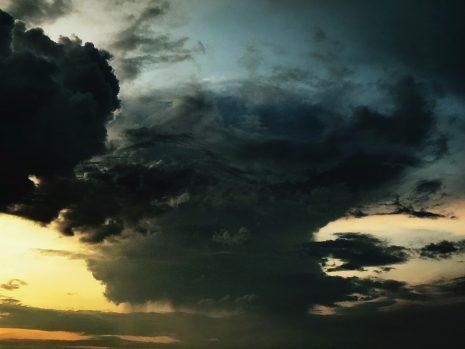Gewitterwolke bei Jena